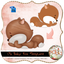 Baby Fox Layered Template by Peek a Boo Designs