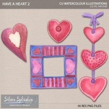 EXCLUSIVE Have a Heart 2 Watercolour by Silver Splashes