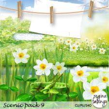 Scenic Spring Pack 9 by Reginafalango