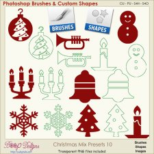 Christmas Brush & Shape PRESETS 10