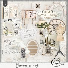 Elements CU - 156 Home Sewing Decor by Cajoline-Scrap