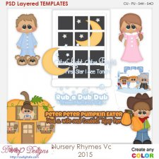 Nursery Rhymes Vol 2 Layered Element Templates