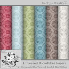 Embossed Snowflake Papers - Beckys Creations