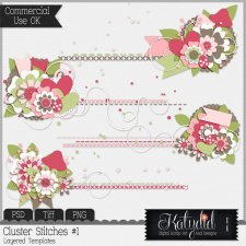 Cluster Stitches Layered Templates Pack No 1
