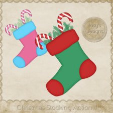 Christmas Stocking Photoshop Action 1 by Josy