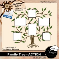 Family Photo Tree ACTION by Boop Designs