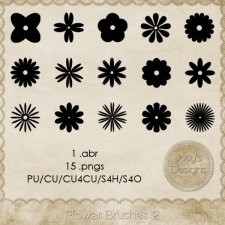 Flower Brushes 2 by Josy