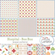 Hospital Boo Boo Pattern Template by Kim Cameron