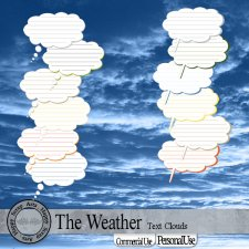 The Weather Textclouds by Happy Scrap Arts