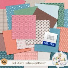 Felt Charm Textures and Pattern EXCLUSIVE by PapierStudio Silke