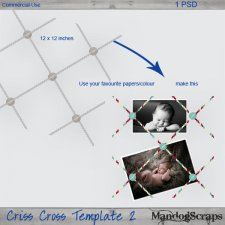 Criss Cross Template 2 by Mandog Scraps
