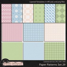 EXCLUSIVE Layered Paper Patterns Templates Set 29 by NewE Designz