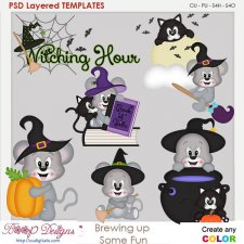 Brewing Up Some Halloween Fun Layered Element Templates