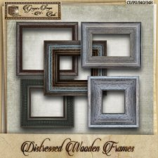 Distressed Wooden Frames