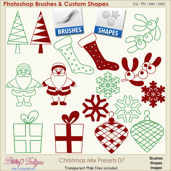 Christmas Brush & Shape PRESETS 07