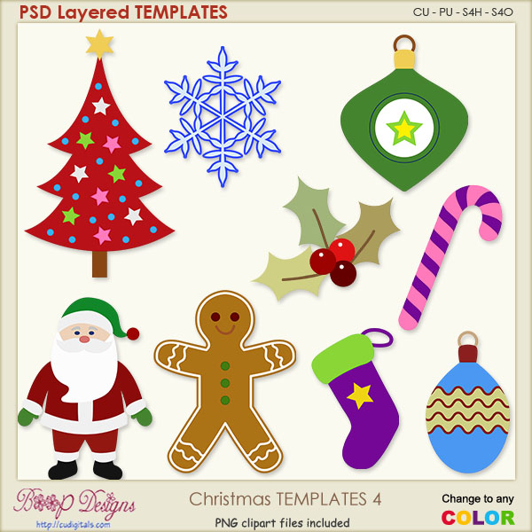 Christmas Layered TEMPLATES 4