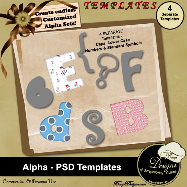 Alpha PSD TEMPLATES by Boop Designs