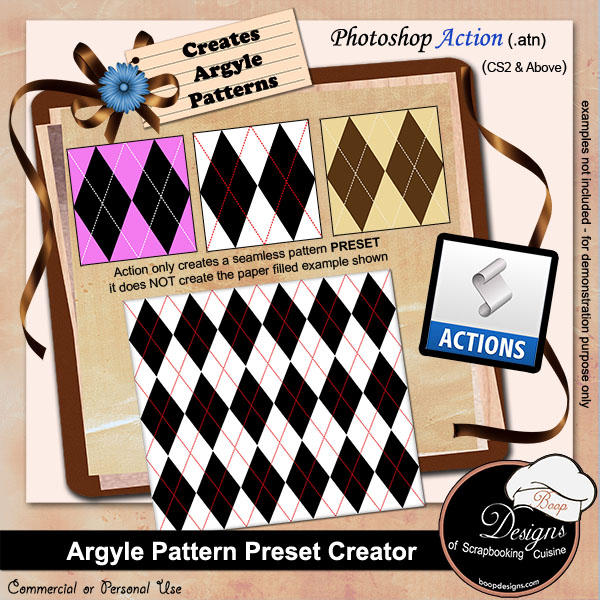 Argyle Pattern Preset Creator by Boop Designs
