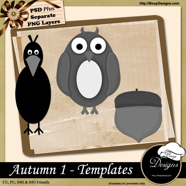 Autumn I TEMPLATES by Boop Designs