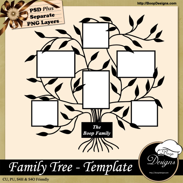 Family Photo Tree Template By Boop Designs Family Photo Tree