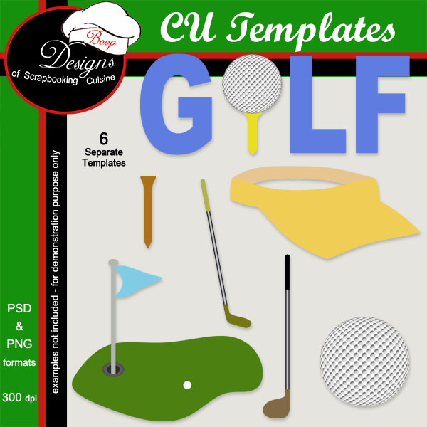 Golf - CU Layered TEMPLATES by Boop Designs