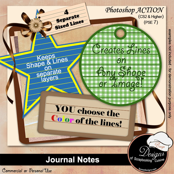 Journal Tag Notes by Boop Designs