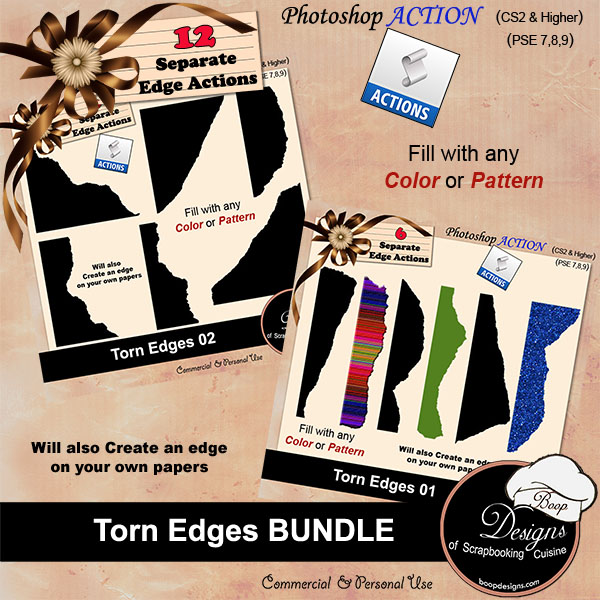 Torn Edges ACTION BUNDLE by Boop Designs