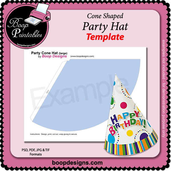 party hat template by boop printable designs party hat template by