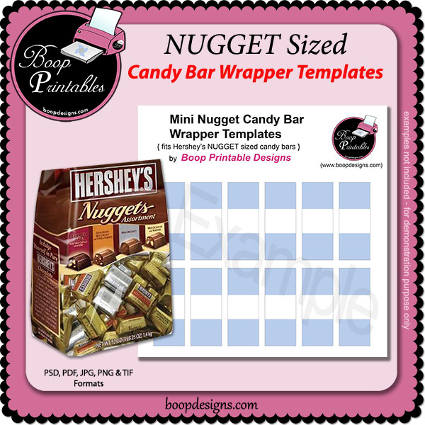 Nugget mini candy bar wraps template by boop printable designs nugget mini candy bar wraps template by boop printable designs maxwellsz