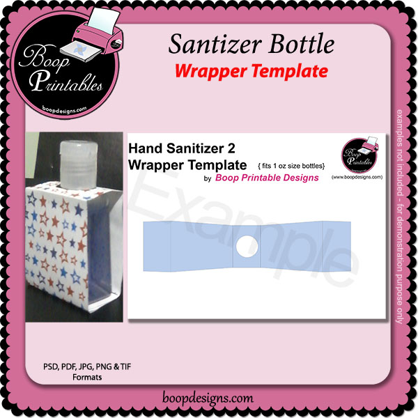 Hand Sanitizer Bottle Wrap TEMPLATES by Boop Printables Hand ...