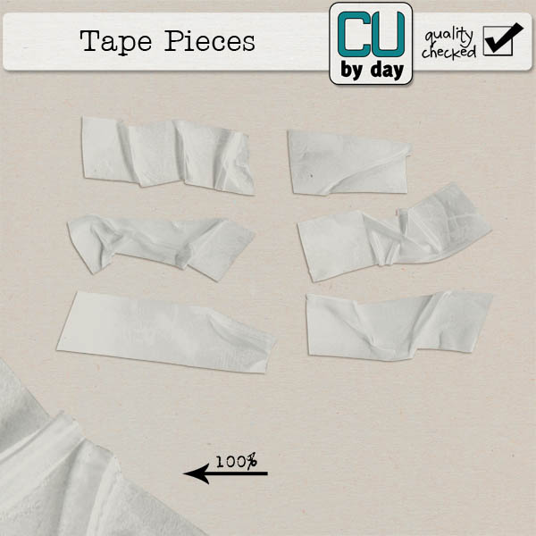 Tape Pieces - CUbyDay EXCLUSIVE