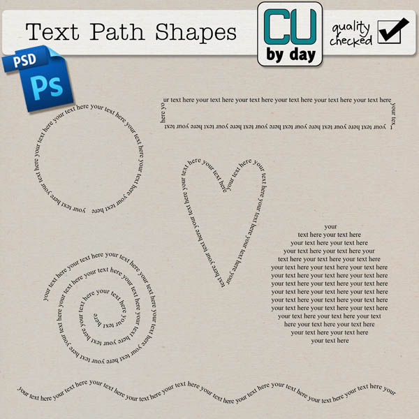 Text Path Shapes