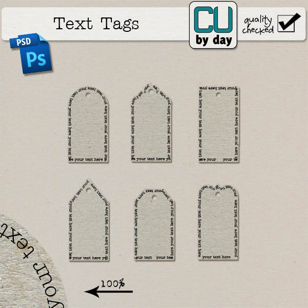 Text Tags - CUbyDay EXCLUSIVE