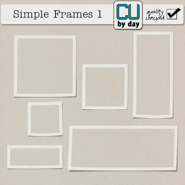 Simple Frames 1 - CUbyDay EXCLUSIVE