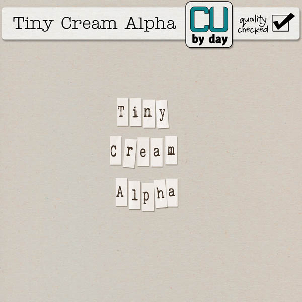 Tiny Cream Alphabet