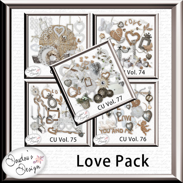 Vol. 73 to 77 LOVE Element pack by Doudou Design