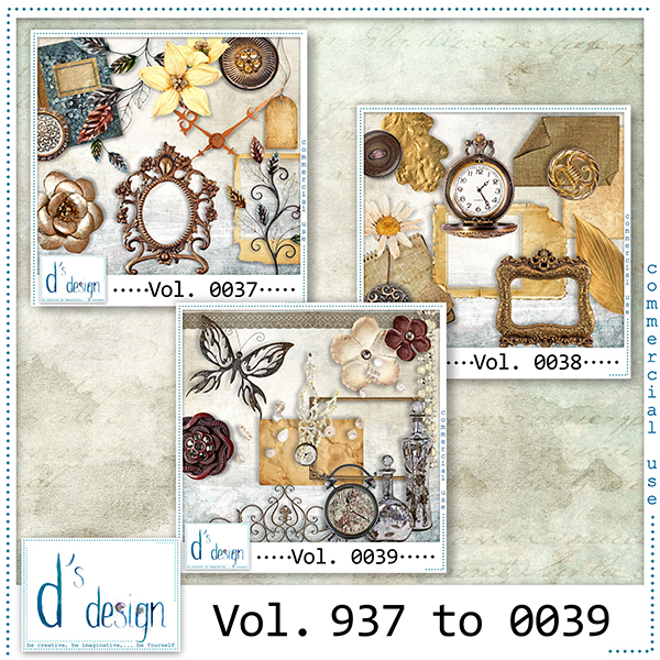 Vol. 0037 to 0039 - Vintage Mix by Doudou's Design