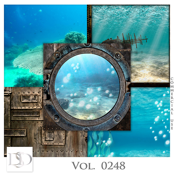 Vol. 0248 Steampunk Sea Papers by D's Design