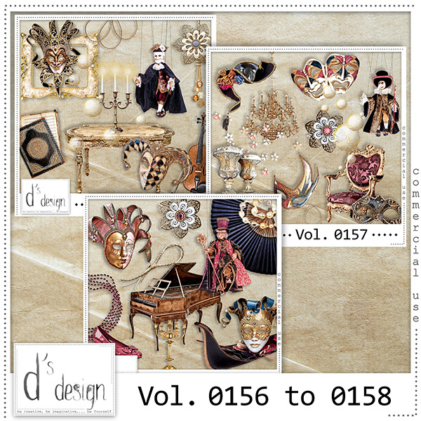 Vol. 0156 to 0158 - Venice Masquerade Mix by D's Design