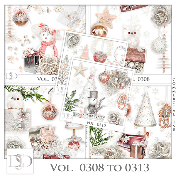 Vol. 0308 to 0313 Christmas Mix by D's Design