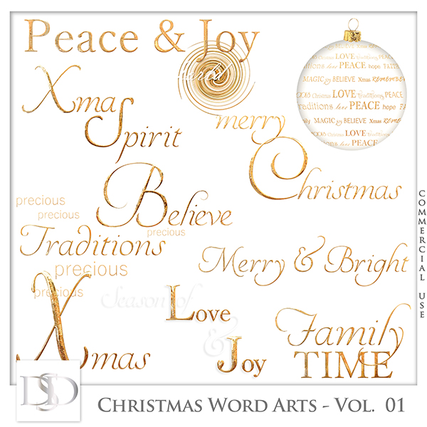 Christmas Word Arts Vol 01 by D's Design