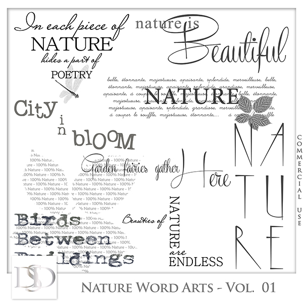 Nature Word Arts Vol 01 by D's Design