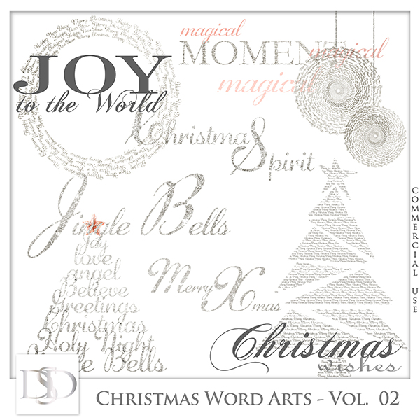 Christmas Word Arts Vol 02 by D's Design