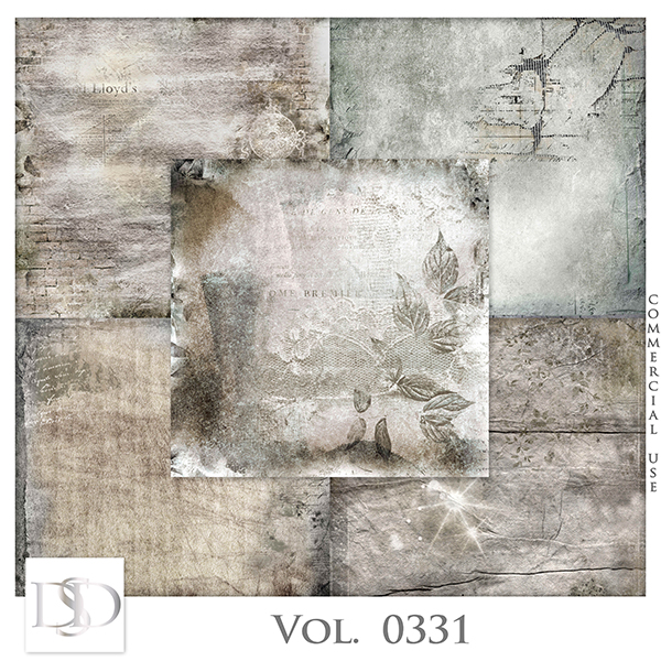 Vol. 0331 Vintage Papers by D's Design