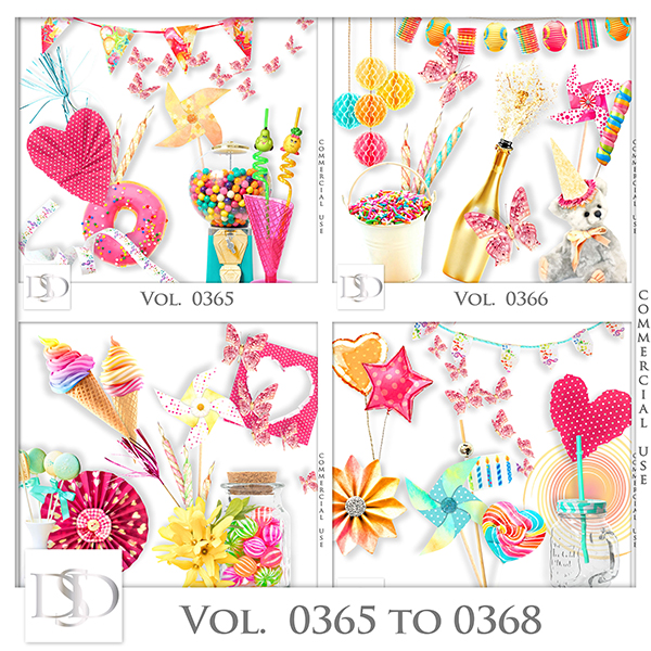 Vol. 0365 to 0368 Party Mix by D's Design