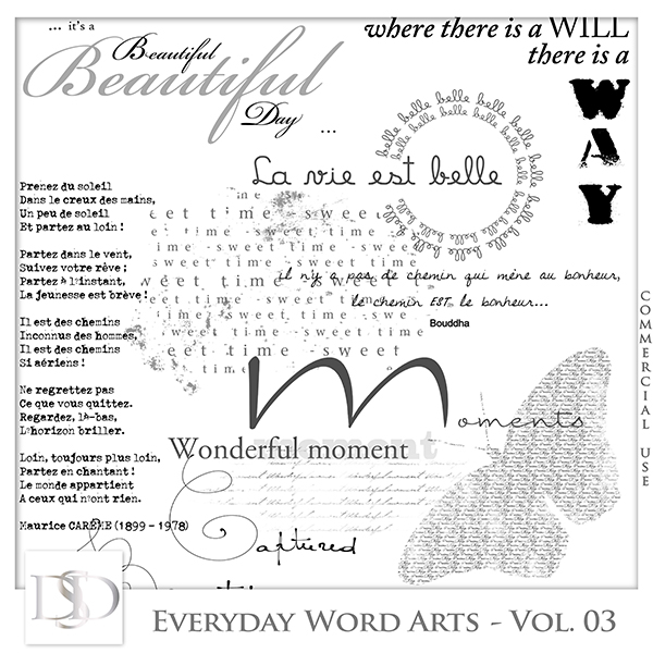 Everyday Word Arts Vol 03 by D's Design