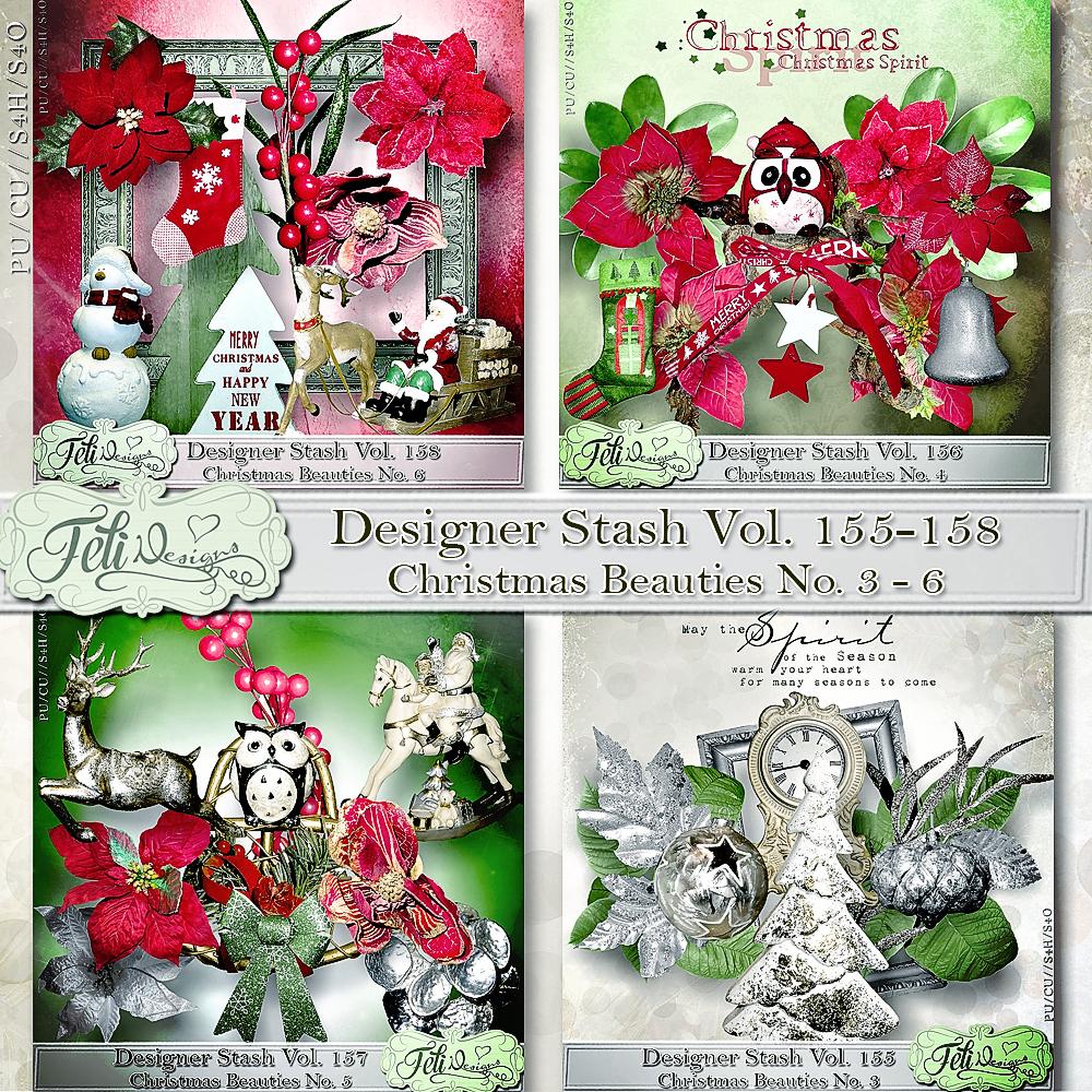 Designer Stash Vol 155-158 - Christmas Beauties BUNDLE by Feli ...