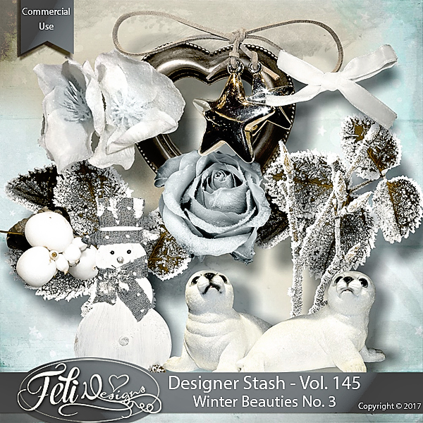 Designer Stash Vol. 145 - Winter Beauties No. 3 by Feli Designs