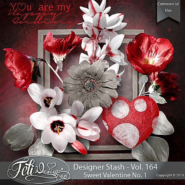 Designer Stash Vol 164 - Sweet Valentine No. 1 by Feli Designs