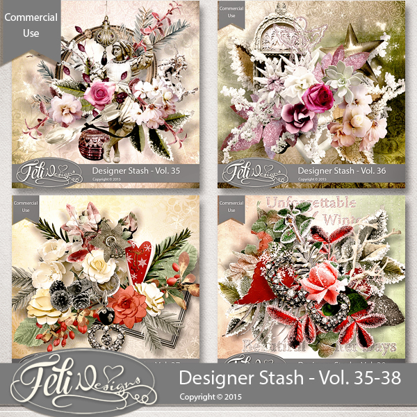 Designer Stash Vol. 35-38 - CU by Feli Designs